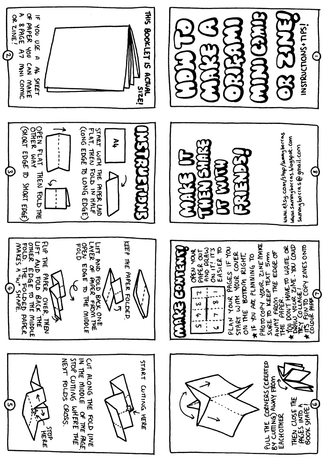 How To Make A Mini Zine This Is A Good Template With Great