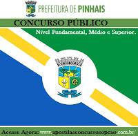 Apostila Concurso Prefeitura de Pinhais PR. Grátis CD com simulado PDF,