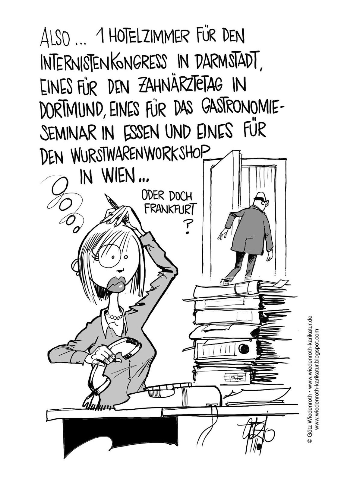 Eselsbrücken Für Die Sekretärin Karikamur Karikatur Wiedenroth