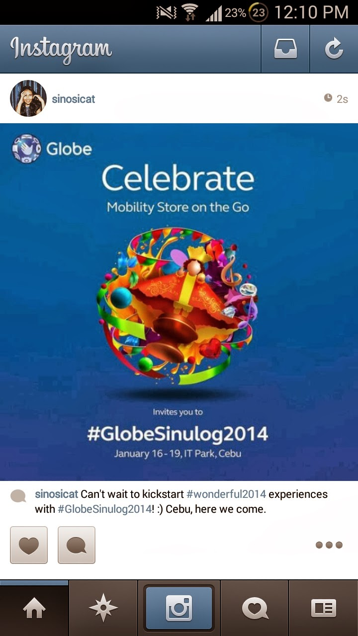 Globe Telecom Sinulog 2014 on Instagram