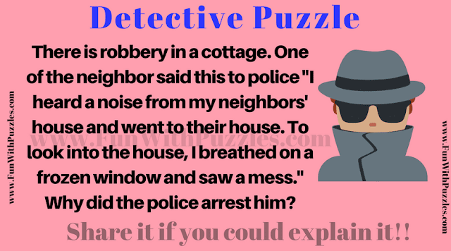 Play detective and solve this robbery mystery in this Picture Puzzle