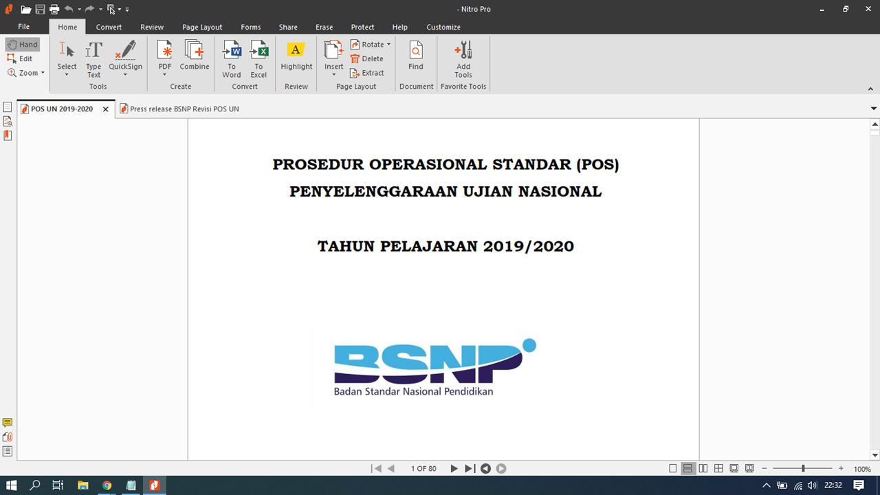 POS UN Ujian Nasional SMP/SMA/SMK Revisi 2020