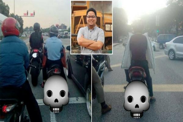 Bahaya Pakai Jaket Terbalik Saat Naik Motor, Curhatan Pria ini Menginspirasi