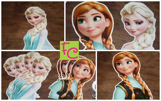 Personagem em Recorte - Anna - Elsa - Tema Frozen
