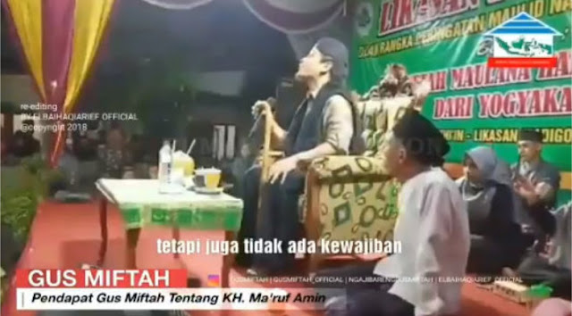 Bakal Viral, Gus Miftah Ceramah Warga NU Tak Wajib Pilih Ma'ruf Amin