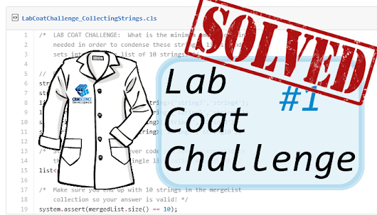 Lab Coat Coat Challenges:  Challenge #1 Responses! ~ CRM Science