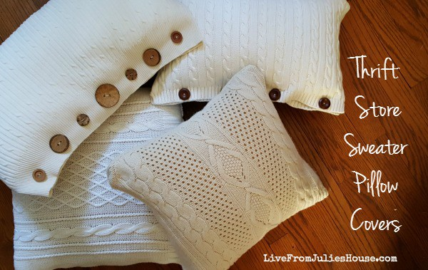 DIY, sewing, thrift store, pillows, crafts, home decor