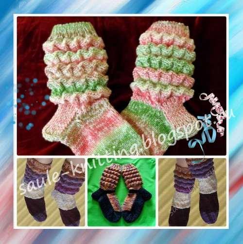 Как связать прелестные носочки