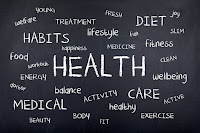 health topics on chalkboard