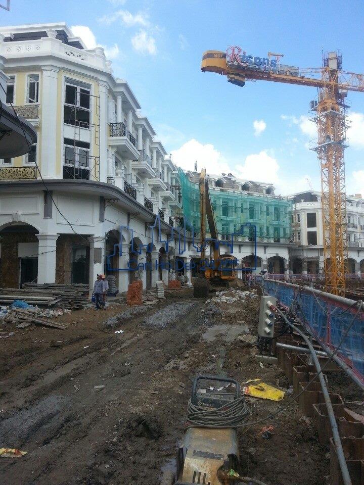 Dãy Nhà phố The Pegasuite đang trong quá trình hoàn thiện