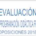 EVALUACIÓN PROGRAMACIÓN DIDÁCTICA FORMACIÓN PROFESIONAL OPOSICIONES