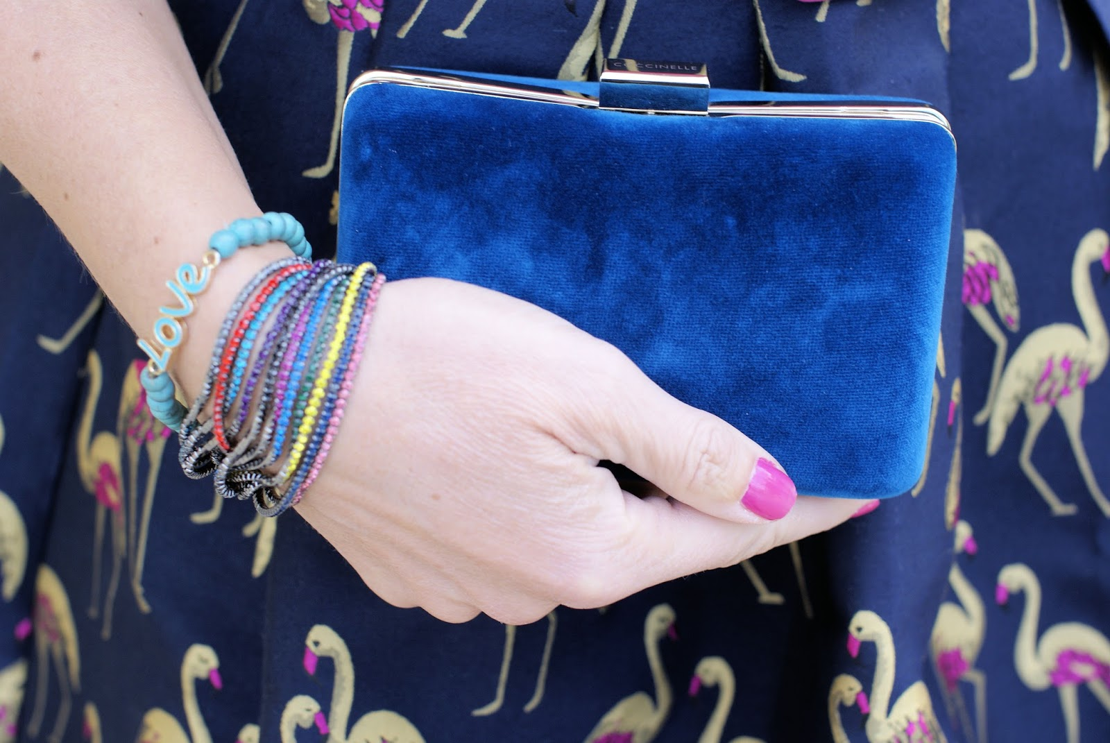 Velvet minaudiere bag on Fashion and Cookies fashion blog, fashion blogger style