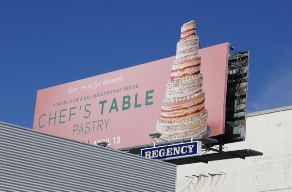 Chefs Table Pastry cake cut-out billboard