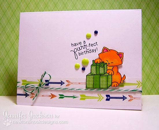 Inky Paws Challenge Card for Newton's Nook Designs using Newton's Birthday Bash