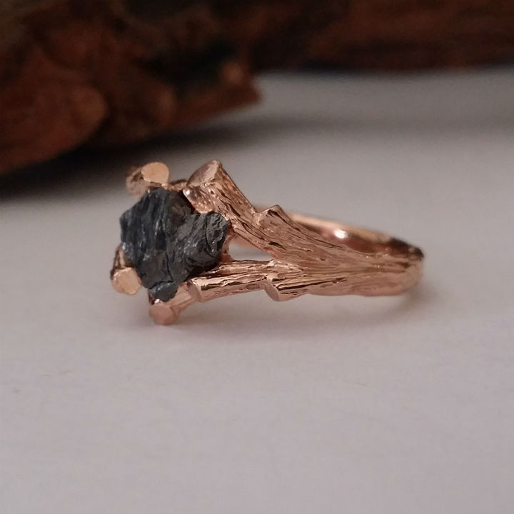 dawn vertrees raw uncut rough engagement wedding rings rough diamonds raw uncut black diamonds
