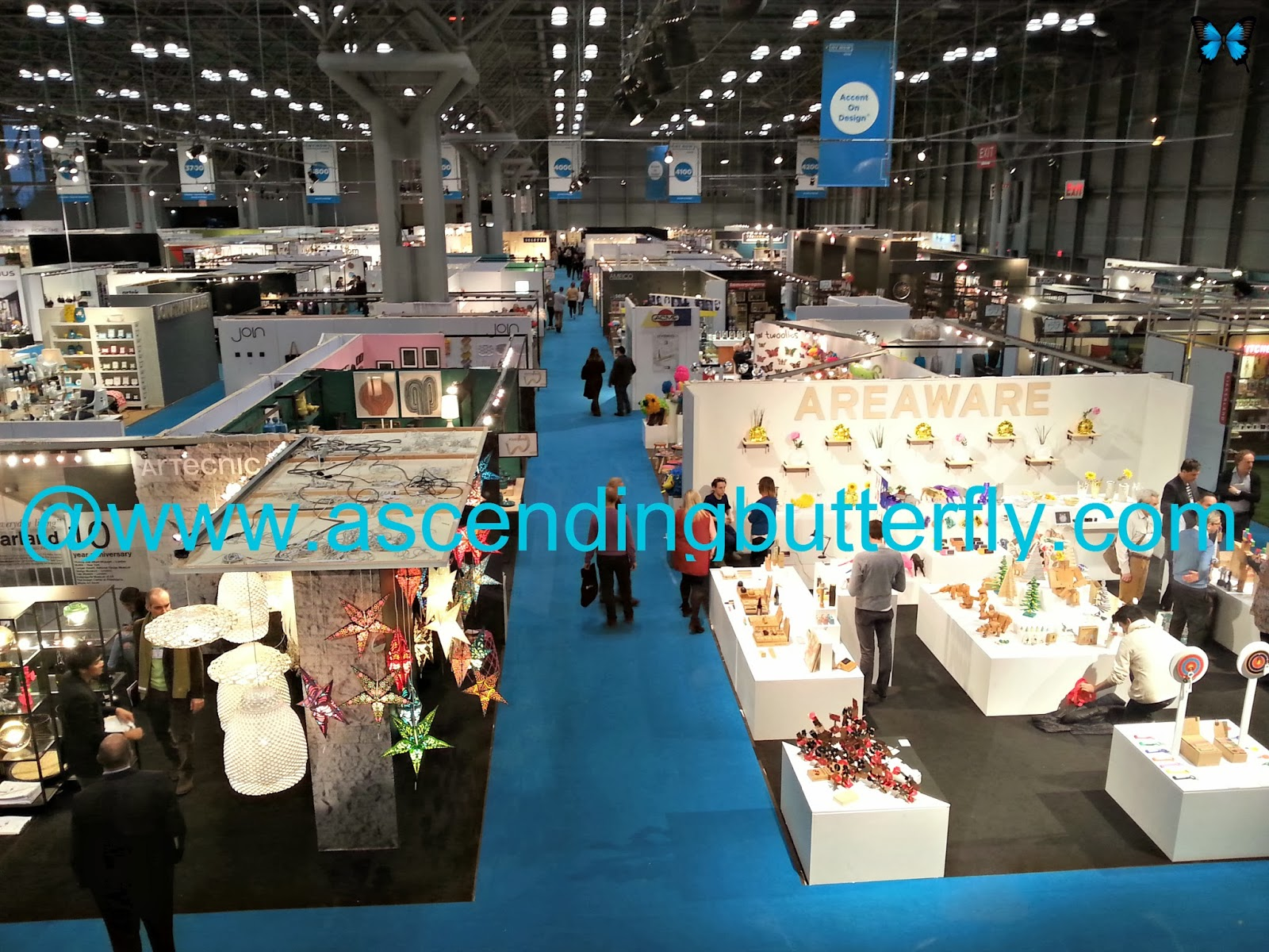 Overview of the NY Now Trade-show from my vantage point upstairs in the Press Area, photography, pictures