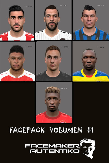 PES 2016 Facepack Volumen #1 By Facemaker Autentiko