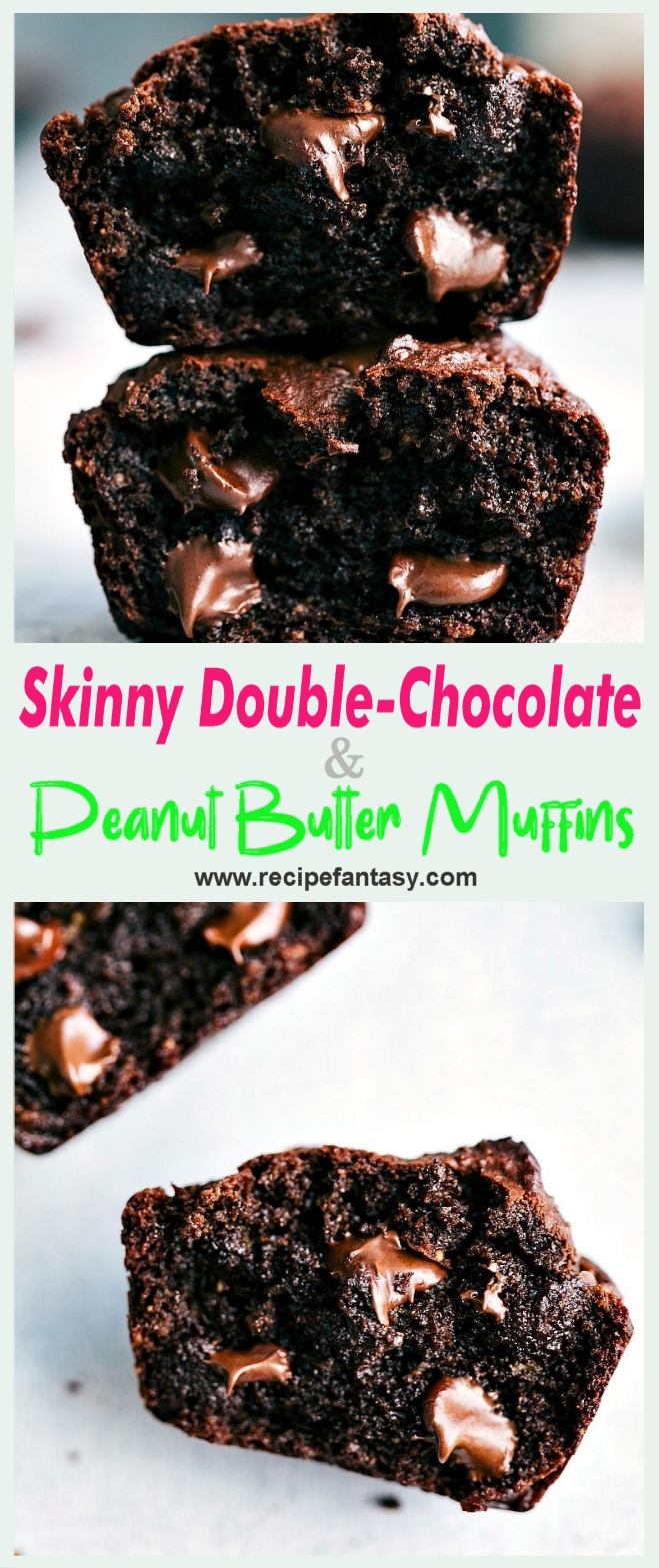 Skinny Double-Chocolate & Peanut Butter Muffins