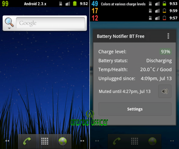 Battery Notifier BT Free Android App