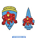 United States Air Force Ironmen Squadron Graphic Patch Design