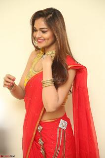 Actress Ashwini in Golden choli Red saree Spicy Pics ~  114.JPG
