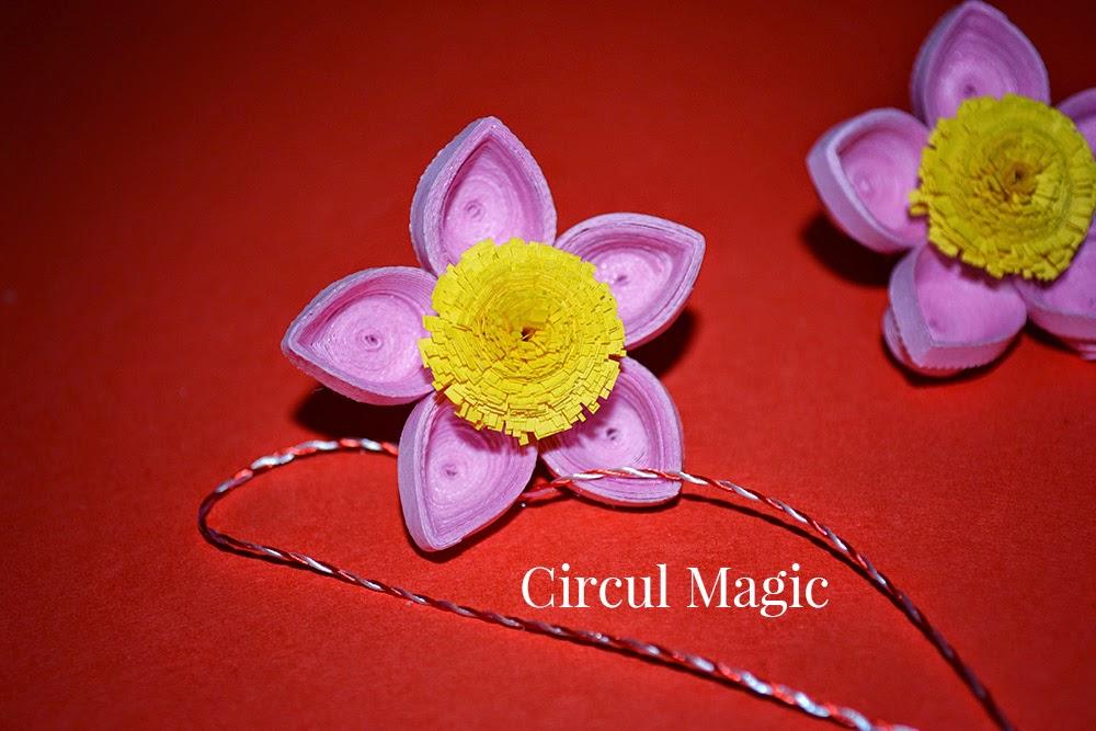 Martisoare 2015 Flori de Martie Circul Magic Quilling