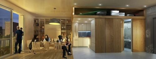 05-Apartment-Night-My-Micro-NY-Micro-Modular-Apartments-nARCHITECTS-Architects-Building