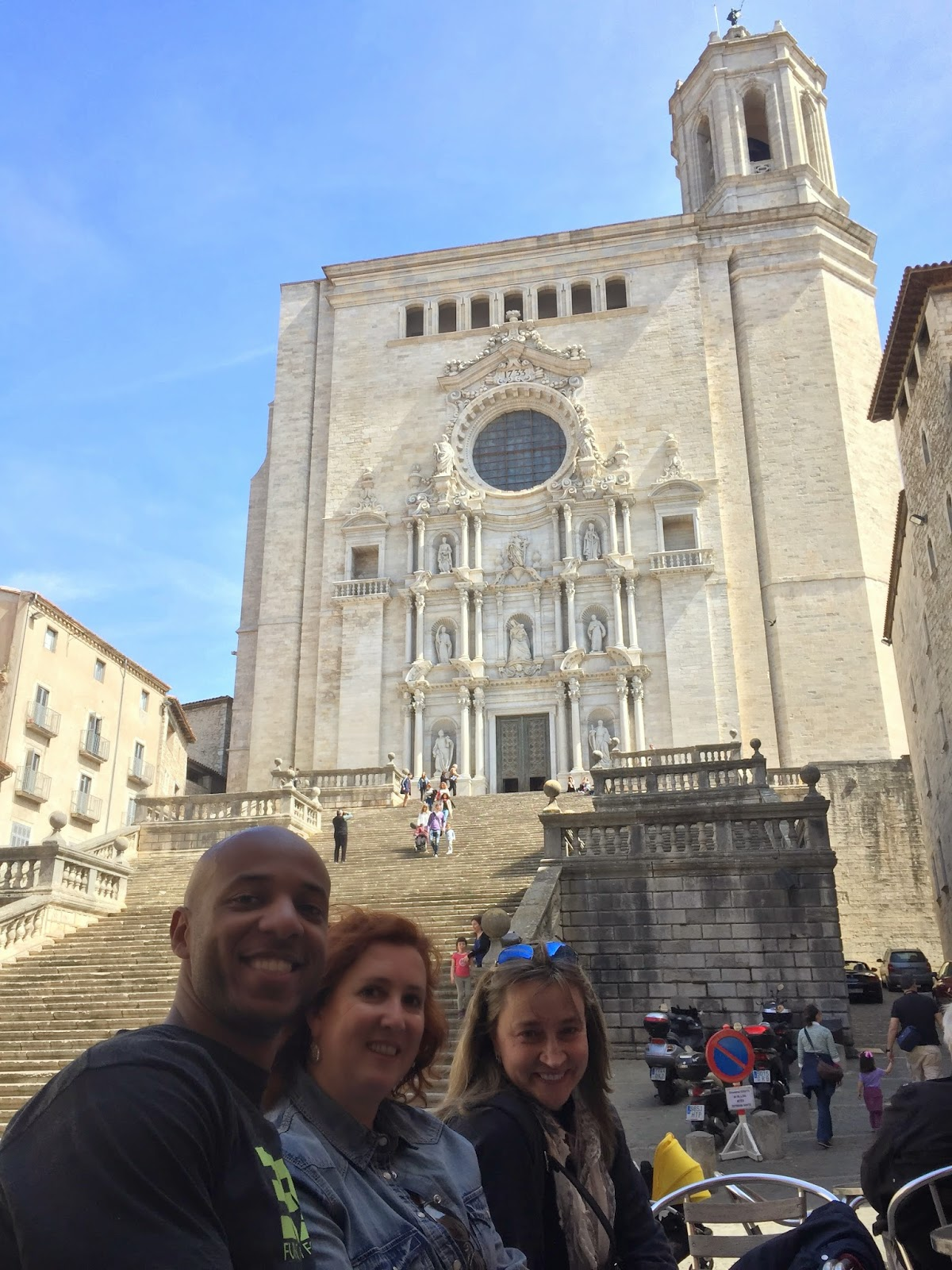 The beautiful cathedral in Girona