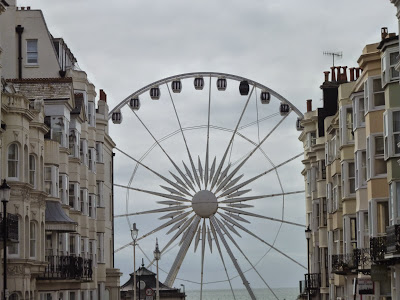 dull day in brighton wheel sea