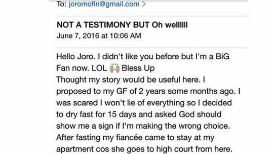 How 15 days fasting and prayer saved this guy from marrying a 'wild' lady