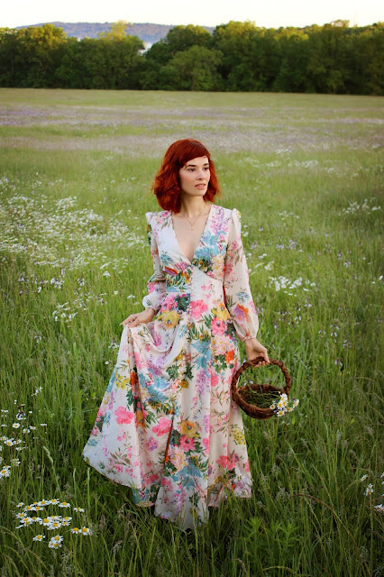 Only in Dreams Floral Maxi Dress from ChicWish retro summer kitschy maxi