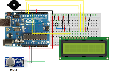 Arduino Gas leakage sensor with LCD display
