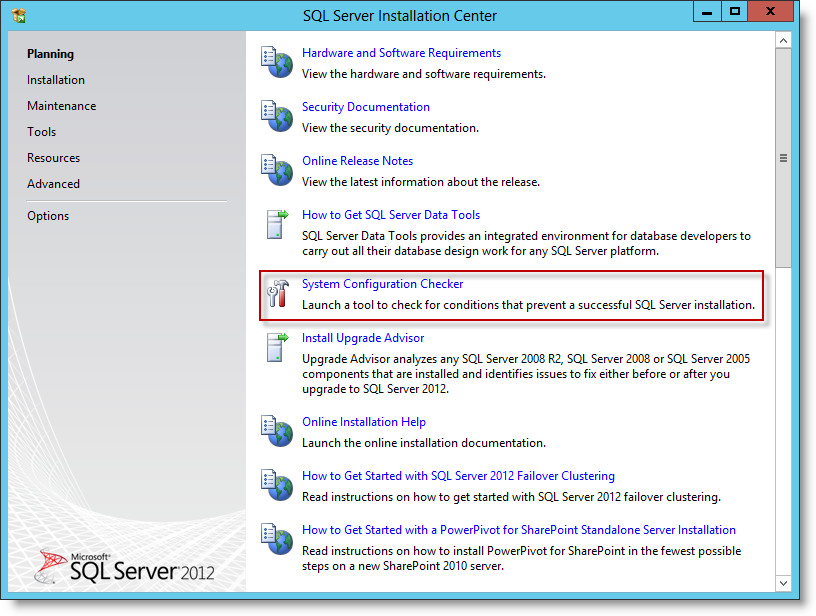 Installing Microsoft SQL Server 2012 Standard Edition SP1 in