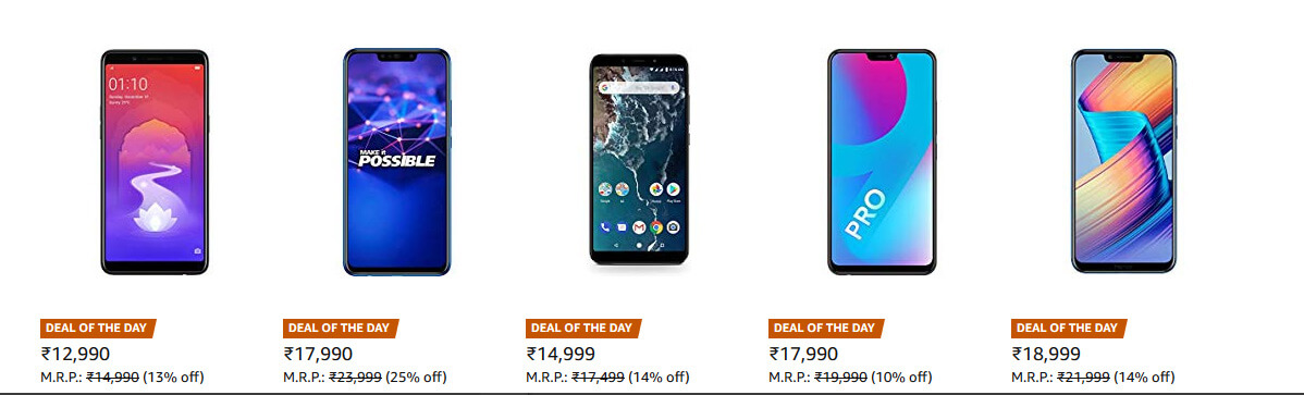Amazon Great Indian Festival Deals on Smartphone and Gadgets