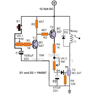 Simple Timer Circuit with Independent On and OFF Delay