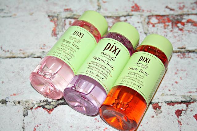 Pixi Skintreats - Pixi Retinol Tonic, Pixi Rose Tonic and Pixi Glow Tonic
