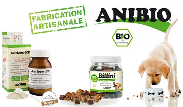 Anibio des produits BIO pour chien et chat