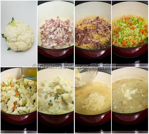 Cauliflower Chowder Procedures