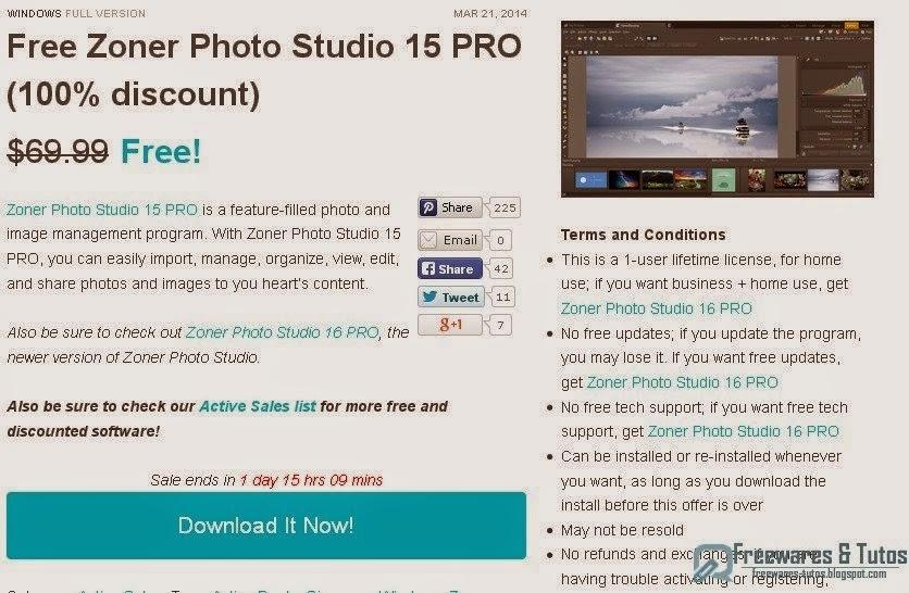 offre promotionnelle   zoner photo studio 15 pro  u00e0 nouveau gratuit