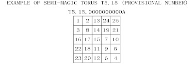 order 5 semi-magic torus type 15