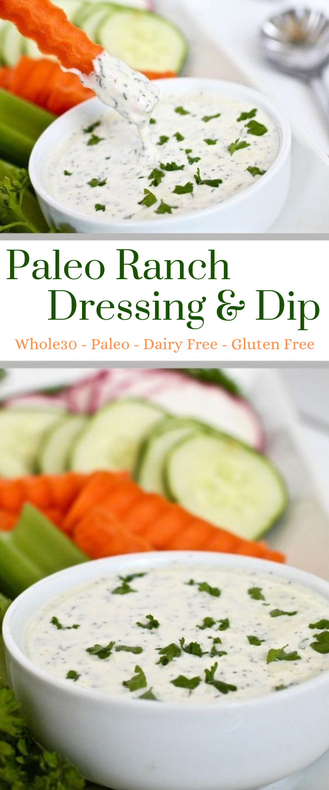 Paleo Ranch Dressing & Dip #Dip #Paleo