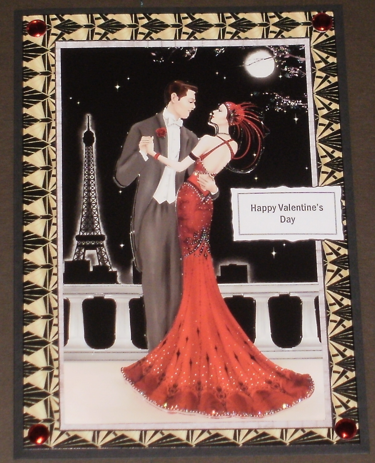 Kyms Crafty Cards Two Art Deco Valentines Day Cards