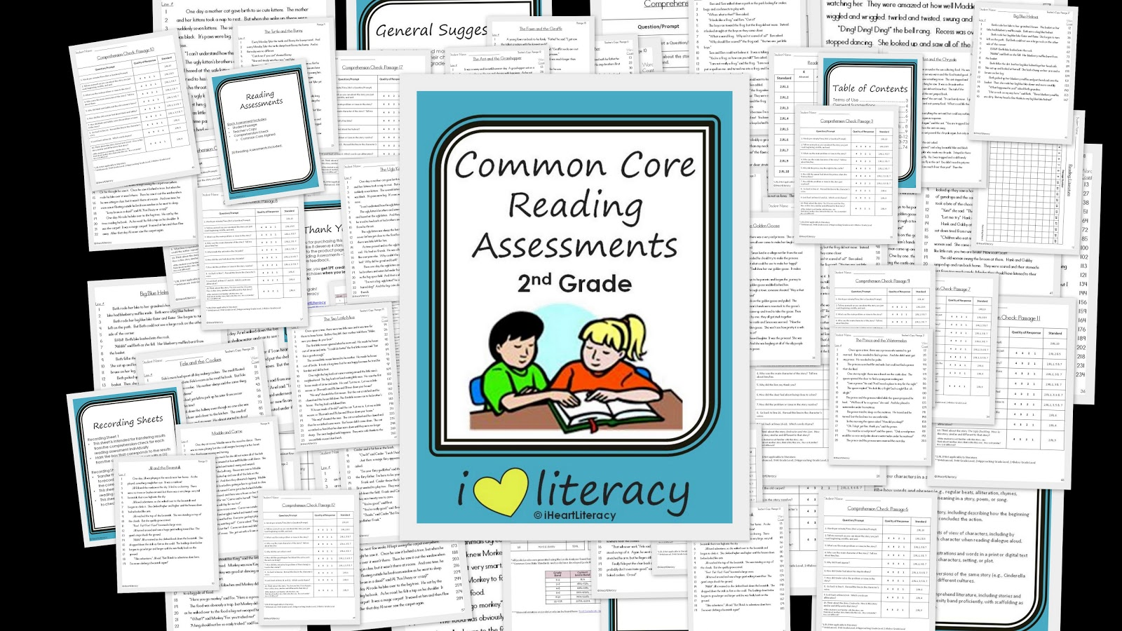 Iheartliteracy Tpt Common Core Reading Assessments 2nd Grade