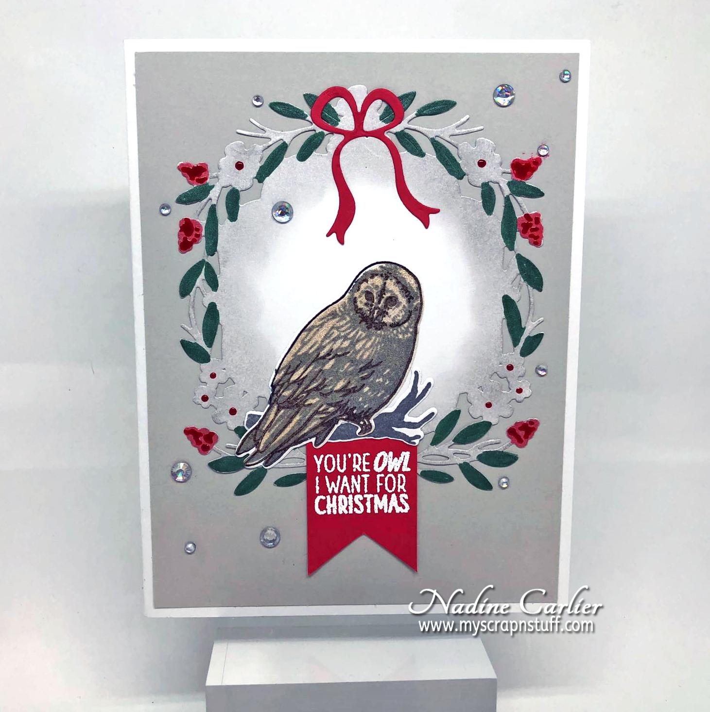 Nadine Carlier: Simple Christmas Card
