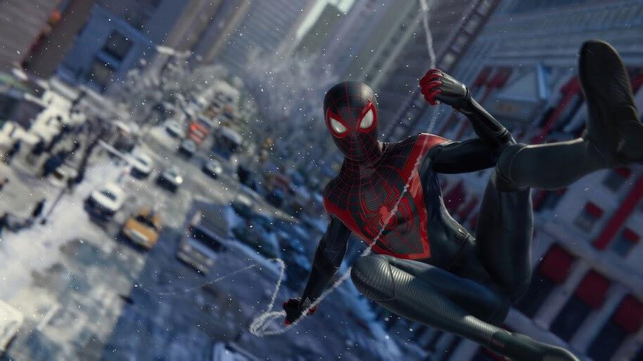 Spider-Man Miles Morales, Web Swing, PS5, Game, 4K, #5.2203