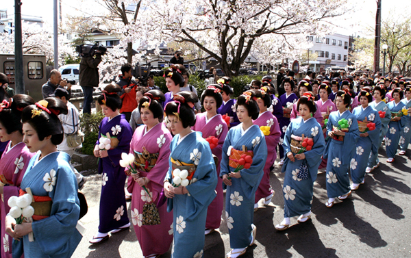 Marumage Matsuri (parade with old hair stayle), Himi City, Toyama