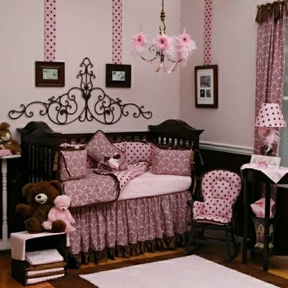 de bebé en rosa y marrón  Dormitorios colores y estilos