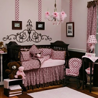 cuarto bebé rosa chocolate
