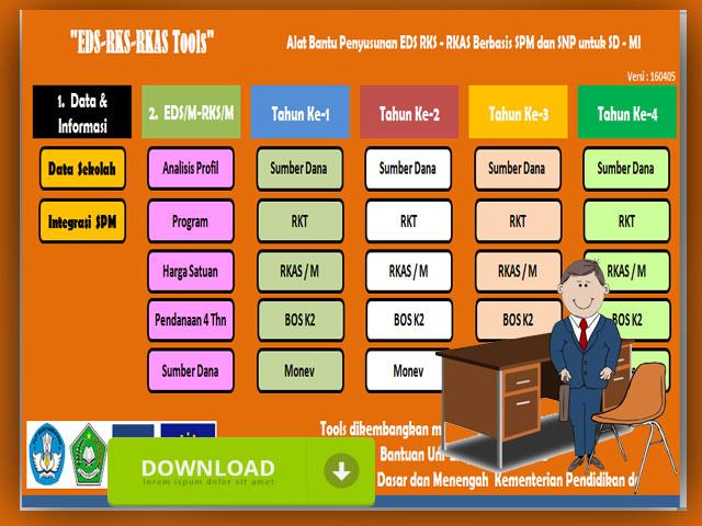 Master Tool Aplikasi EDS , RKS dan RKAS Berbasis SPM/SNP