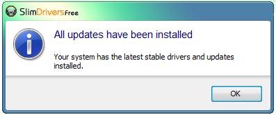 All updates have been installed- Todos os drivers estão atualizados.